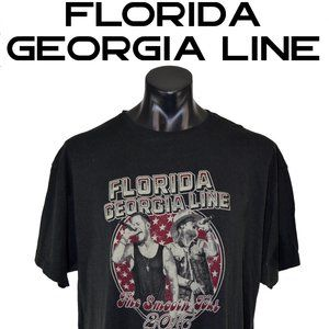 Florida Georgia Line Concert T-Shirt ADULT 2XL XXL